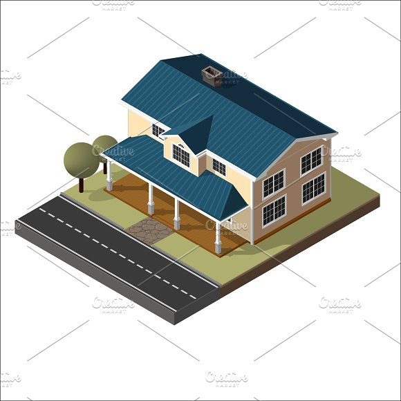 American Cottage, Small Wooden House