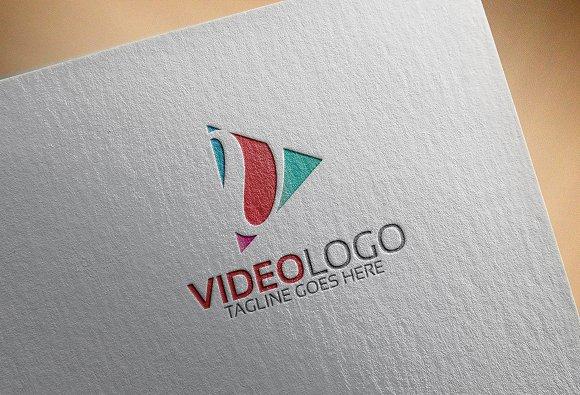 Video Logo V Letter