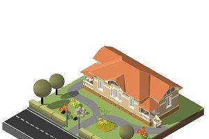 American Cottage, stone villa