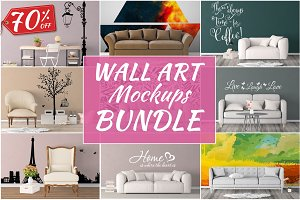 Wall Art Mockups BUNDLE V29