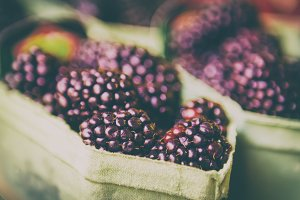 Blackberry at market