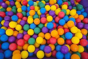 Colored sponge balls