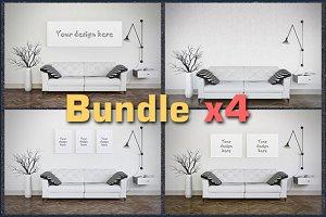 BUNDLEx4 interior mockup living room