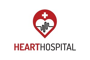 Heart Hospital Logo Template