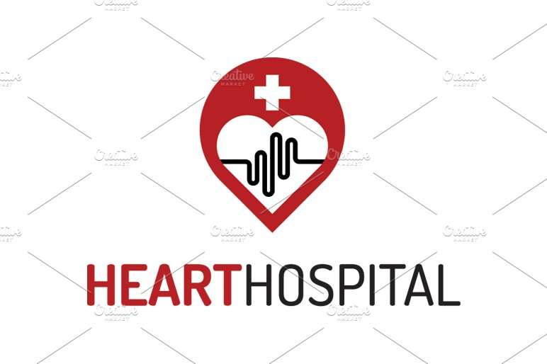 heart hospital logo template logo templates creative market