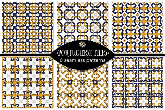 Set 45 6 Seamless Patterns