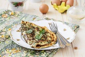 omelet with nettles