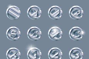 silver coins set