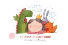Cute illustrations love card
