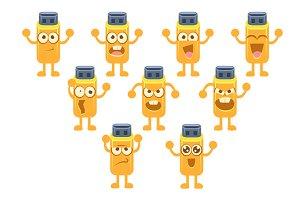 Usb Stick Emoji Character Set