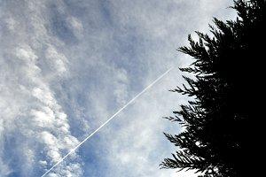 sky with plane