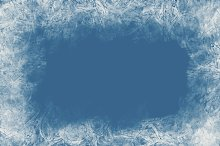 Blue frozen background