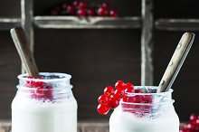 Yogurt with sweet red currant