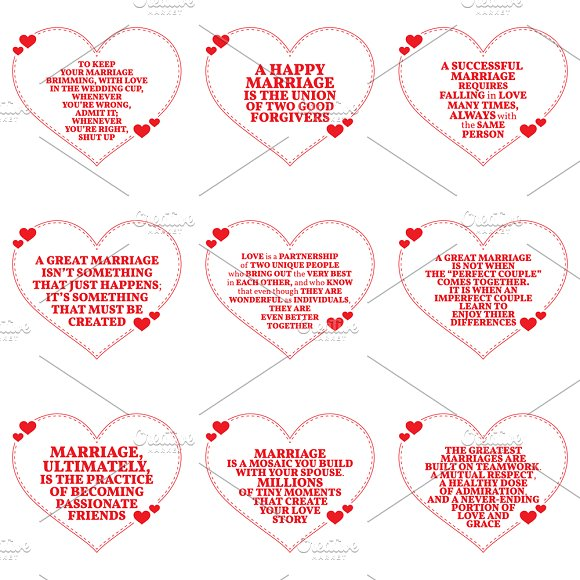 Nine Love Quotes Set 1726 Illustrations Creative Market