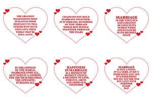 Nine Love Quotes. Set 18/26