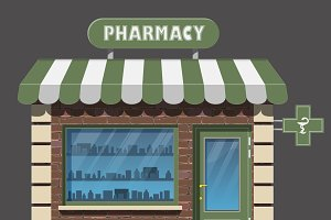 pharmacy drugstore icon