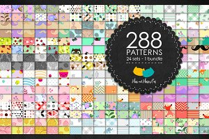 Mega bundle 288 cute patterns.