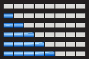 Horizontal progress bars