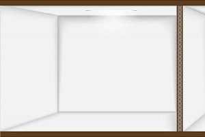 Vector empty white room.