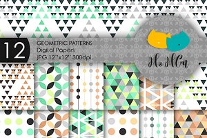 12 Geometric Digital Papers