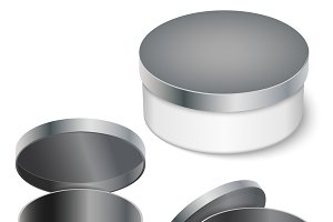open round metal box