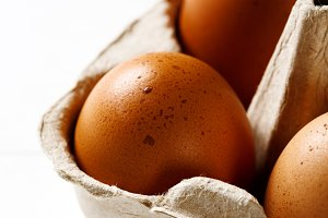 Food background with eggs