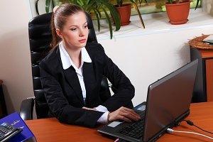 Beauty young businesswoman