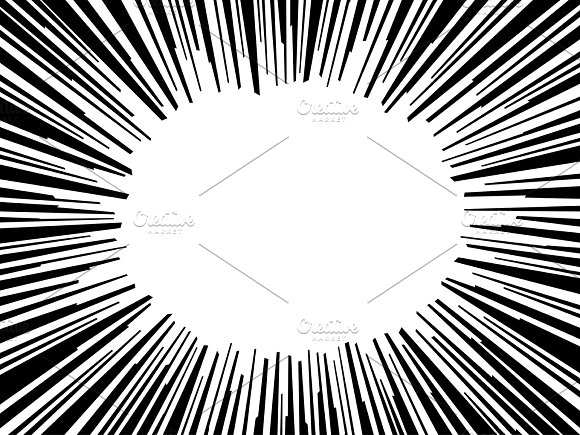 Abstract Comic Book Flash Explosion Radial Lines Background Vector Illustration For Superhero Design Bright Black White Light Strip Burst Cartoon Hero Fight Print Stamp