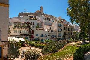 Ibiza hill architecture