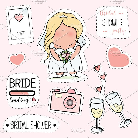 Bachelorette Or Wedding Party Stickers