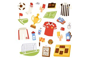 Euro soccer vector illustration.