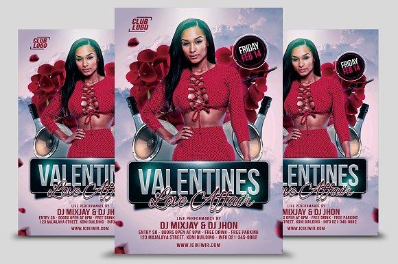 Valentines Love Affair Flyer