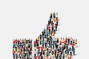 people like crowd vector