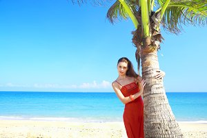 by the palm