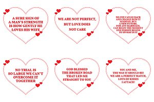Nine Love Quotes. Set 22/26