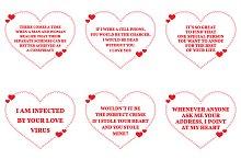 Nine Love Quotes. Set 23/26