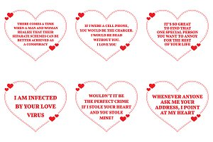 Nine Love Quotes. Set 23/26