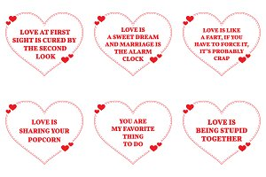 Nine Love Quotes. Set 24/26
