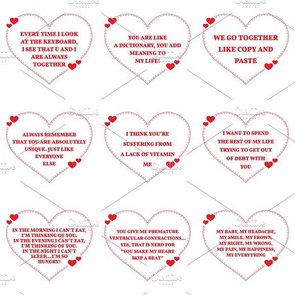 Nine Love Quotes. Set 26/26