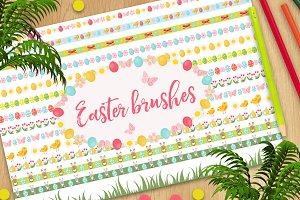 Easter brushes collection