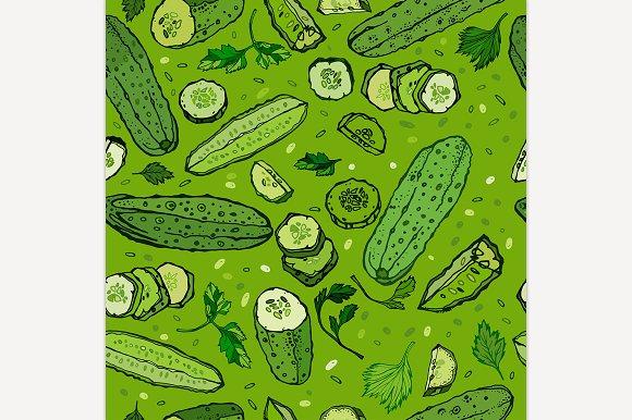 Cucumber Pattern Image