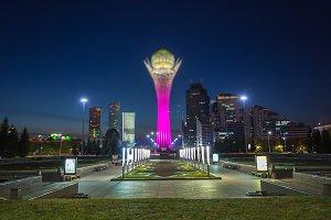 Astana evening, capital Kazakhstan