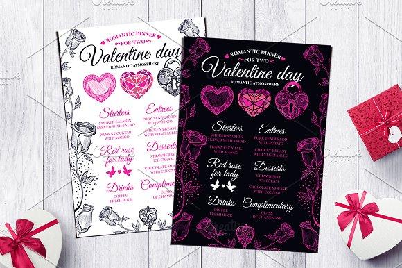 Valentine Menu Restaurant Flyer #43