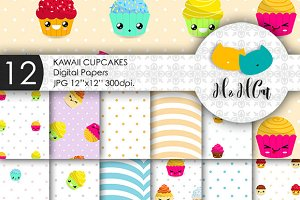 Kawaii Cupcakes patterns.