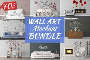 Wall Art Mockups BUNDLE V32