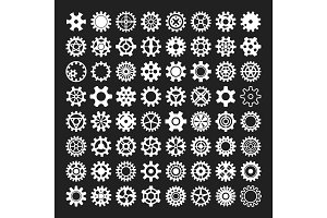 Gear icons isolated vector illustration.