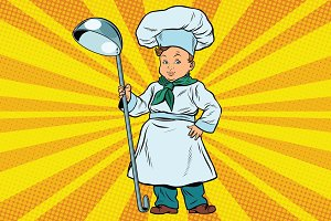 The little boy cook