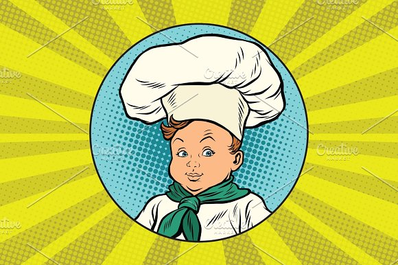 Boy In White Chefs Hat