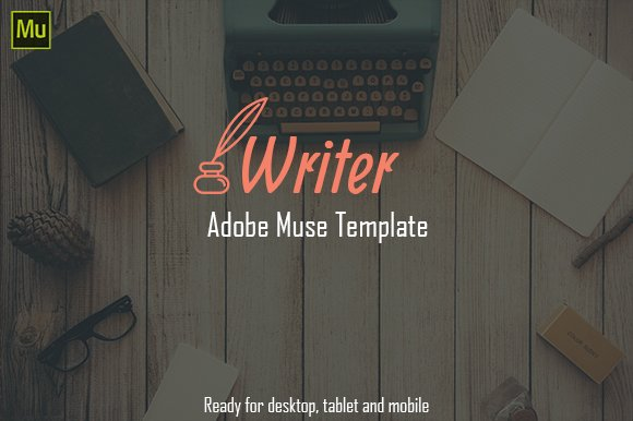 Writer Authors One Page Template