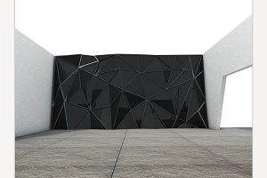 Polygonal wall render